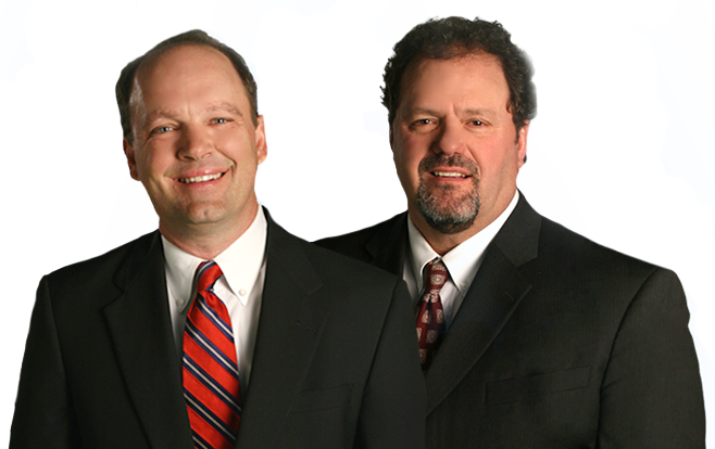 Attorneys Lance Stevens and Rod Ward